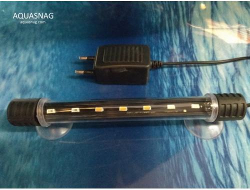 Фото Подводная светодиодная лампа 28.5см, голубая с белым, 30 LED Купить