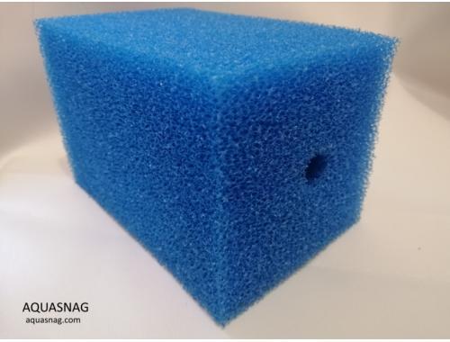 Фото Мочалка синяя (10*10*20)см, крупнопористая Смотреть