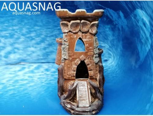 Фото Башня сторожевая средняя с мостом,  дл 10см, шир 13.5см, выс 21см aquasnag.com