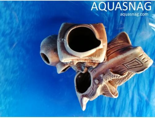 Фото Композиция, кораблик с колонной и амфорой,  дл 17см, шир 14см, выс 11.5см aquasnag.com