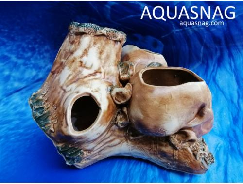 Фото Два черепа на коряге,  дл 19см, шир 20см, выс 18см aquasnag.com