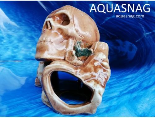 Фото Череп на камне,  дл 13.5см, шир 13см, выс 13.5см aquasnag.com