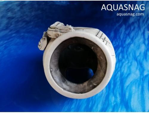 Фото Амфора малая,  дл 12см, шир 10см, выс 10см, серая aquasnag.com