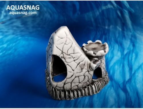 Фото Камень с башенкой мини ,  дл 11см, шир 7.5см, выс 10см, серый aquasnag.com