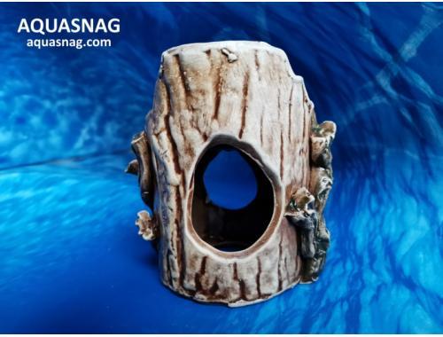 Фото Пень  малый,  дл 12см, шир 8см, выс 12см, коричневый aquasnag.com