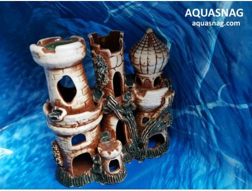 Фото Замок большой,  дл 23см, шир 11см, выс 23см, коричнеывый aquasnag.com