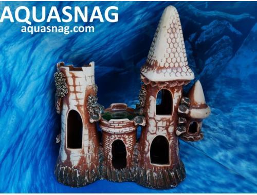 Фото Замок большой,  дл 27см, шир 16см, выс 24.5см, коричневые aquasnag.com