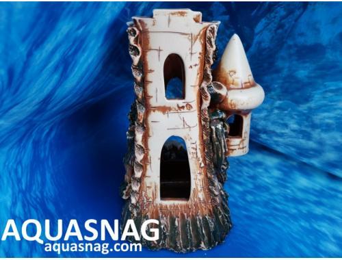 Фото Замок одинарный  дл 13см, шир 20см, выс 22см, коричневый Смотреть