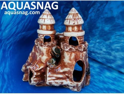 Фото Башенки на скале,  дл 21см, шир 13см, выс 20см, корчневые aquasnag.com