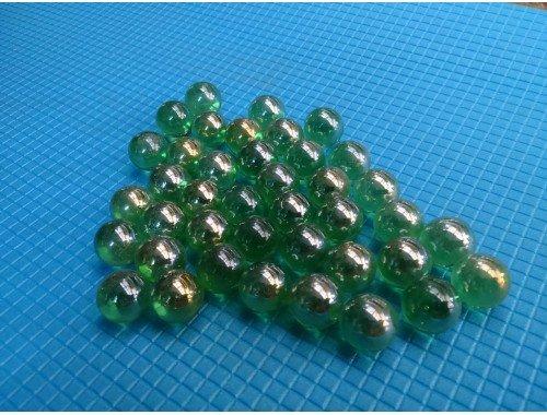 Фото Стеклянные шарики, зеленые. Набор из 50шт Купить