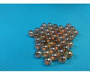 Стеклянные шарики, светлокоричневые. Набор из 10шт
