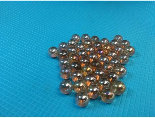Фото Стеклянные шарики, светлокоричневые. Набор из 50шт aquasnag.com