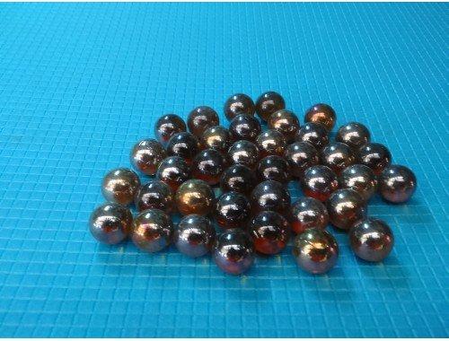 Фото Стеклянные шарики, коричневые, набор из 50шт Смотреть