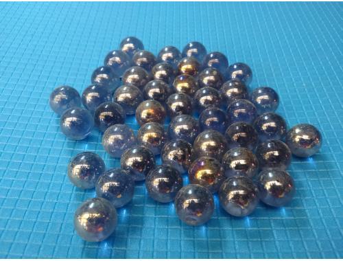 Фото Стеклянные шарики, синии. Набор из 50шт Смотреть
