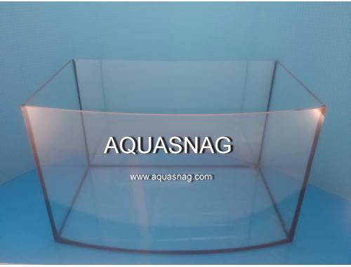 Фото Аквариум овал 60л, шлифованное стекло 4мм (дл50/ш30/в40)см, под пластиковую крышку и поддон Смотреть