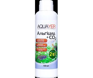 AQUAYER Альгицид+СО2 100мл,  против красных водорослей (черная борода, вьетнамка) и зеленых водорослей