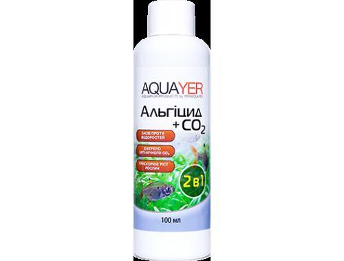 Фото AQUAYER Альгицид+СО2 100мл,  против красных водорослей (черная борода, вьетнамка) и зеленых водорослей Смотреть