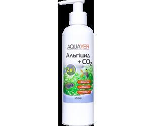 AQUAYER Альгицид+СО2 250мл,  против красных водорослей (черная борода, вьетнамка) и зеленых водорослей