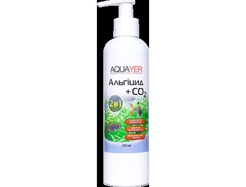 Фото AQUAYER Альгицид+СО2 250мл,  против красных водорослей (черная борода, вьетнамка) и зеленых водорослей aquasnag.com
