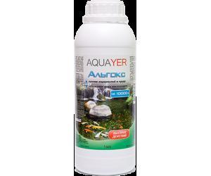 AQUAYER Альгокс 1Л, средство против зеленых водорослей в прудах