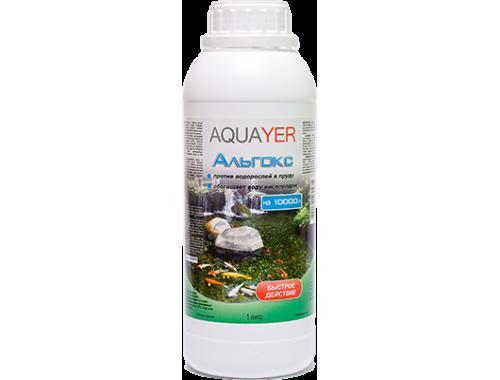 Фото AQUAYER Альгокс 1Л, средство против зеленых водорослей в прудах Купить