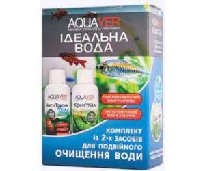 AQUAYER Идеальная вода комплект из 2-х средств для очищения воды в аквариуме 2х60мл