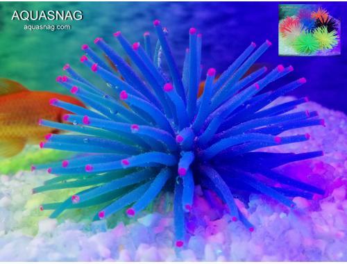 Фото Актиния силиконовая Ёжик RT-172S, синяя Смотреть