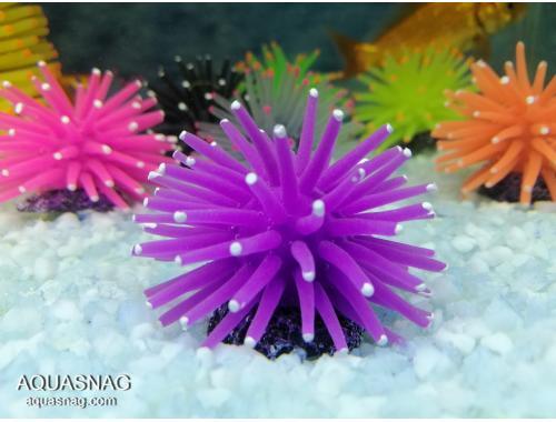 Фото Актиния силиконовая малая Ёжик RT-172XS, фиолетовая Смотреть