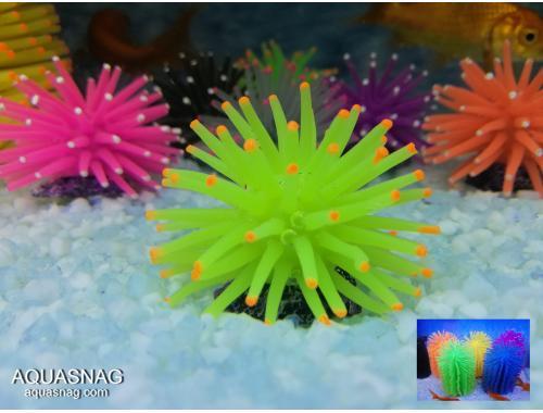 Фото Актиния силиконовая малая Ёжик RT-172XS, желтая aquasnag.com