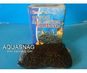 Активированный уголь Resun  C150, 150г  размер гранул дл (1-1.5)см, d-4мм