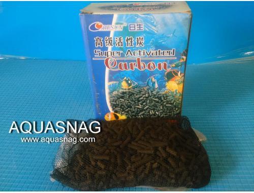 Фото Активированный уголь Resun  C150, 150г  размер гранул дл (1-1.5)см, d-4мм aquasnag.com