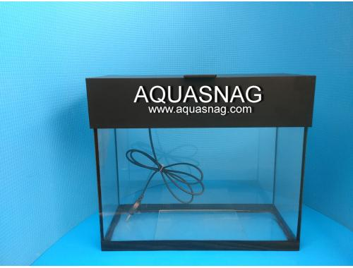 Фото Аквариум 20л  со светильником (дл 37, ш 17, в 33)см,  окантовка черная aquasnag.com