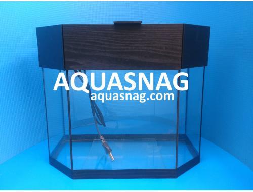 Фото Аквариум 20л  со светильником (дл 37, ш 17, в 34)см,  окантовка черная Купить
