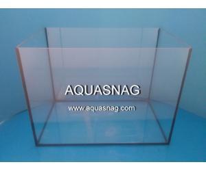 Аквариум 40л прямой, шлифованное стекло 4мм (дл40/ш25/в40)см, под пластиковую крышку и поддон