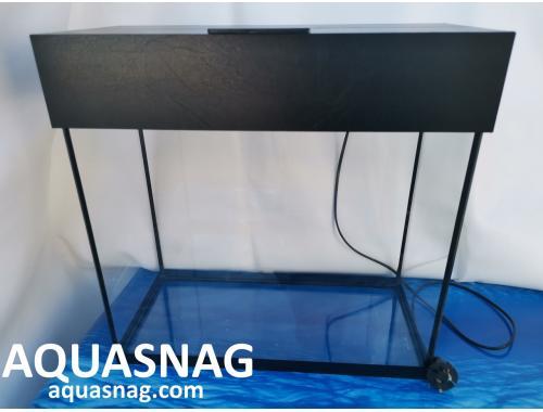 Фото Аквариум 50л  со светильником (дл , ш , в )см,  прямоугольный, окантовка черная aquasnag.com