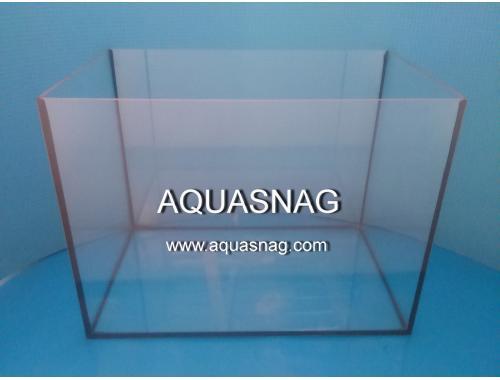 Фото Аквариум 63л прямой, шлифованное стекло (дл60ш30/в35)см, под пластиковую крышку и поддон Купить