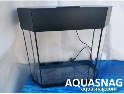 Фото Аквариум 70л  со светильником (дл , ш , в )см,  панорама, окантовка черная Купить