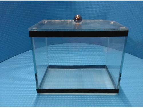 Фото Аквариум мини классика 12л  с покровным стеклом Купить