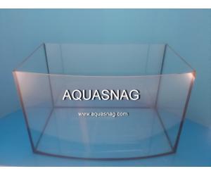 Аквариум овал, 100л шлифованное стекло  (дл80/ш35/в40)см, под пластиковую крышку и поддон