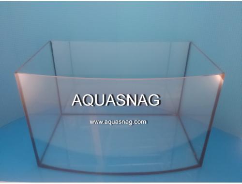 Фото Аквариум овал, 130л шлифованное стекло  (дл80/ш35/в50)см, под пластиковую крышку и поддон aquasnag.com