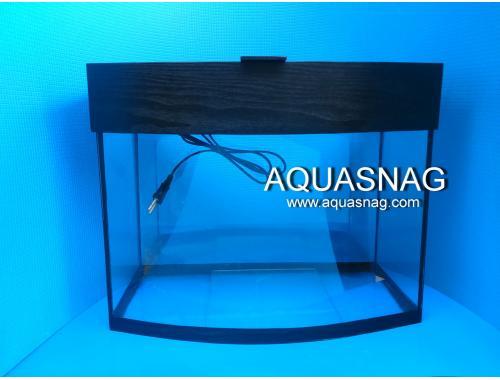 Фото Аквариум овал 45л(черный),(дл 70, ш17, в 42)см со светильником Смотреть