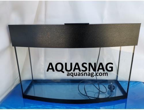 Фото Аквариум овал 80л(черная  кожа), со светильником (дл , ш , в )см aquasnag.com
