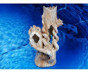 Амфора малая на дереве, д-14см, ш-13см, в-25см