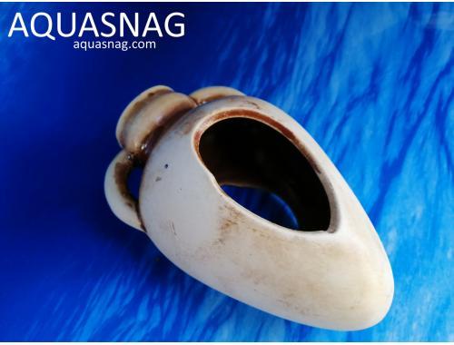 Фото Амфора мини пузатая с ручками,  дл 16см, шир 7см, выс 7см, коричневая aquasnag.com
