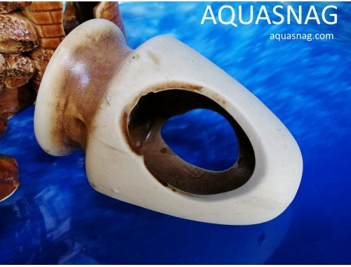 Фото Амфора мини с большим горлышком,  дл 11см, шир 8см, выс 7см , коричневая aquasnag.com