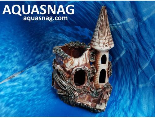 Фото Башня с полым пнем,  дл 20см, шир 16.5см, выс 27.5см aquasnag.com