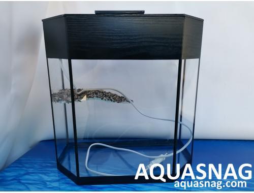 Фото Черепашник 20л, cо светильником (дл, ш, в)см, панорама, черная окантовка aquasnag.com