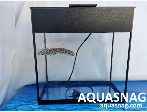 Фото Черепашник  20л, cо светильником (дл, ш, в)см, прямоугольный, черная окантовка aquasnag.com