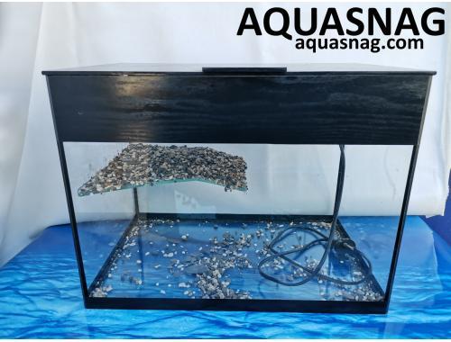 Фото Черепашник 40л, cо светильником (дл, ш, в)см, прямоугольный, черная окантовка aquasnag.com