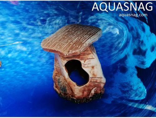 Фото Черепашник большой одинарный,  дл 13см, шир 13см, выс 17см, коричневый aquasnag.com